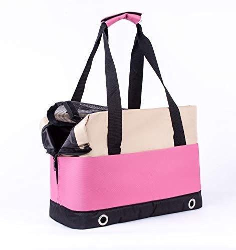 Zedelmaier Hundetasche Tragetasche Schultertasche für kleinen und mittleren Hund, Welpen (Pink)
