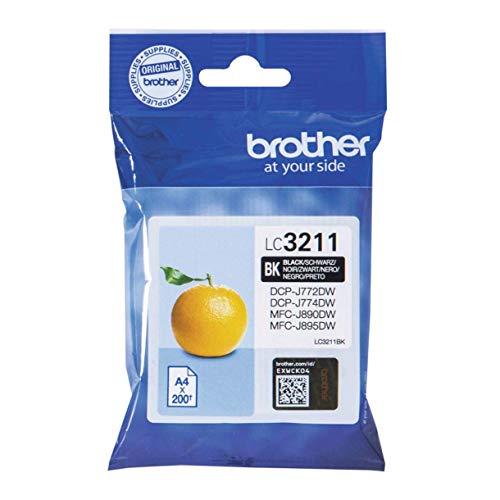 Brother LC-3211BK Tintenpatrone (für Brother DCP-J772DW, DCP-J774DW, MFC-J890DW, MFC-J895DW) schwarz