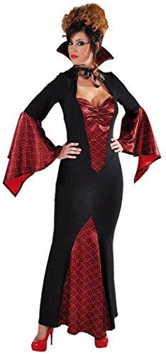 narrenkiste M215152-S-negro-rojo - Vestido largo de vampiro para mujer (talla S)