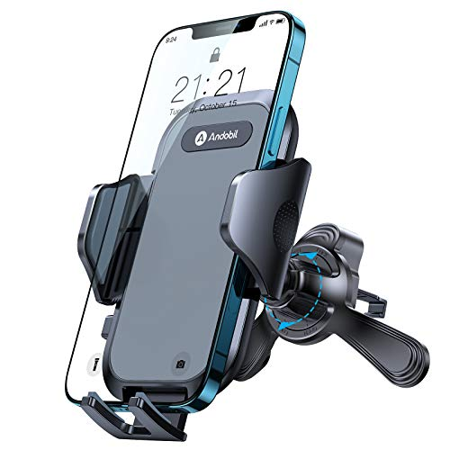 andobil Handyhalterung Auto Handyhalter fürs Auto Lüftung [Extrem Stabil & Hält Bombenfest] 360°Drehbar smartphone KFZ Handyhalterung Universal für iPhone 12 pro/12/11, Samsung S21/S20/S10, Huawei usw