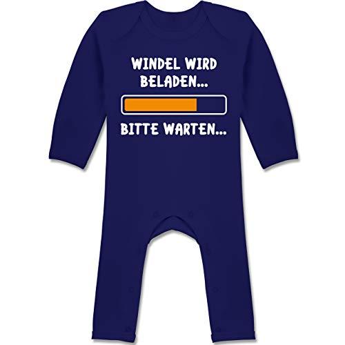 Shirtracer Sprüche Baby - Windel Wird beladen - 12/18 Monate - Navy Blau - Spruch - BZ13 - Baby-Body Langarm für Jungen und Mädchen