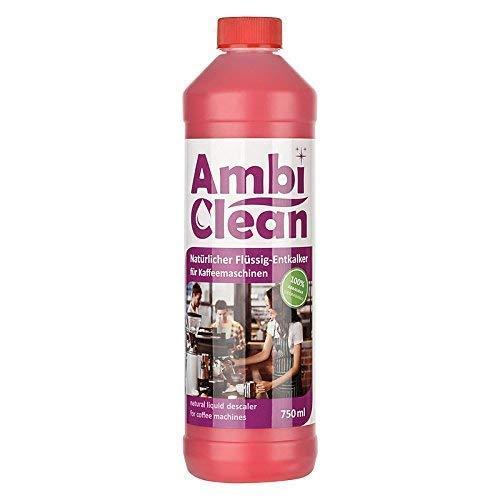 AmbiClean, decalcificante universale per macchine da caffè, bollitore, ferro da stiro, ecc. | Compatibile con tutti i produttori – 750 ml