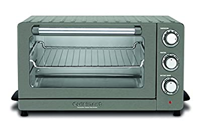 """Cuisinart Convection Toaster Oven Broiler, 19.1""""(L) x 15.5""""(W) x 9.8""""(H), Black Stainless Steel"""
