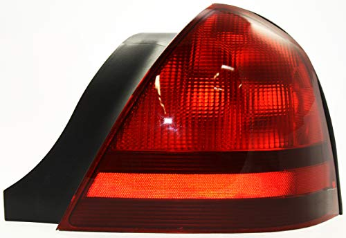 Evan-Fischer Tail Light Lens and Housing Compatible with 2003-2011 Mercury Grand Marquis Passenger Side