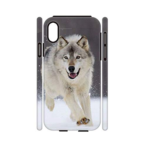 Desconocido Differently Rigid Plastic Phone Cases with Siberian Husky 5 Children Compatible For iPhone X XS