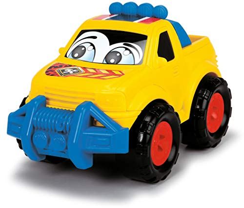 Dickie Toys Happy Runner, Spielautos für Kinder ab 1 Jahr, Off Roader, PKW und SUV, Spielzeugautos, farbecht und speichelfest, abgerundete Kanten, 6-fach sortiert, 27 cm