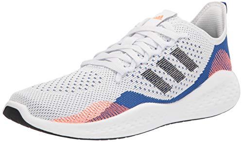 adidas Men's Fluidflow 2.0 Running Shoe, White/Black/Team Royal Blue, 10