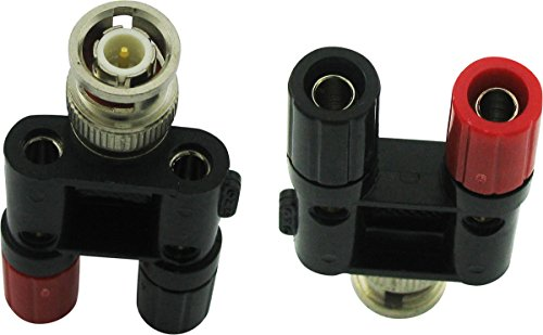 Super Power Supply 1x BNC Male to Dual Banana Binding Female Posts Plug Jack RF Coax Coaxial Connector Adapter