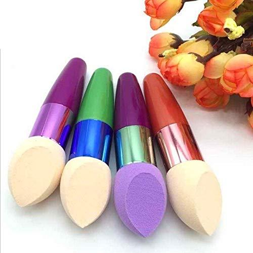 BIGBIGWORLD Lot de 2 éponges de maquillage en forme d'œuf - Couleur aléatoire