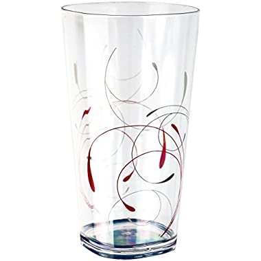 Corelle Coordinates Splendor Acrylic Tumbler Glasses, 19-Ounce, Set of 6