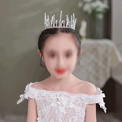 WALNUTA Redondo Tiaras y Coronas Fotografía Chicas Kid Silver Color Accesorios para el Cabello Princess Reina Joyería de Cabello Diadems