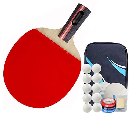 Paleta de ping pong bate de ping pong Disparo Tabla raqueta de tenis Seven Star Individual Profesional Nivel de paleta de ping pong Contiene 10 Bolas 1 Raqueta Conjunto Juego de paleta de tenis de mes