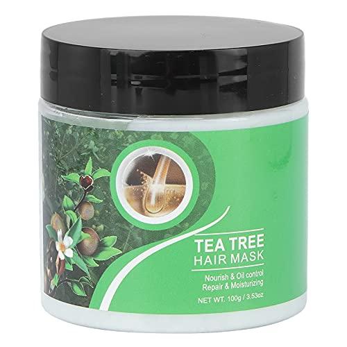 Mascarilla capilar reparadora de árbol de té anti-frizz, mascarilla nutritiva para el cabello, mascarilla acondicionadora para el cabello, acondicionador reparador profundo, humectante suavizante para