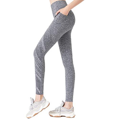 NZHK Yoga-Hosen Mit Taschen, Hohe Taille Ofenrohr Stretch-Slim Fit Yogahosen Geeignet Für Fitness-Rennen Usw,A,XL
