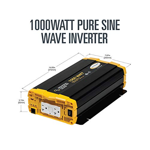 Go Power! GP-ISW1000-12 Industrial Pure Sine Wave Inverter - 1000 Watt / 12V