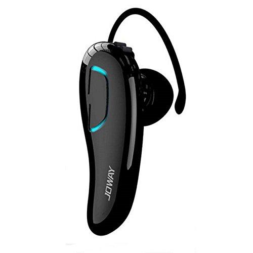 Universal Bluetooth Headset 4.0 Zweiohr In Ear Stereo Funkkopfhörer 112dB Austauschbare Ohrbügel Klavierlackoptik Multipoint Wireless Kabellos (Schwarz)