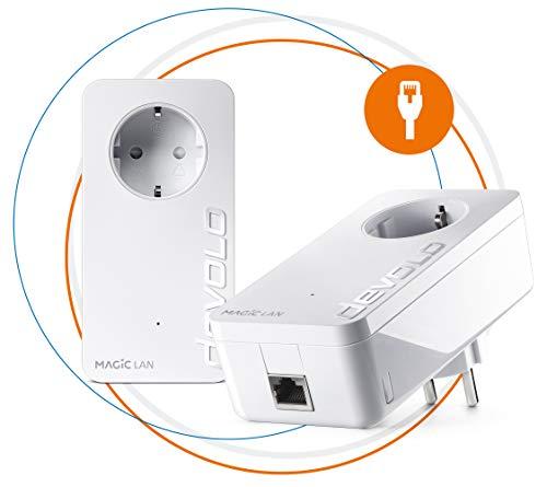 Devolo Magic 2 LAN - Starter Kit de Powerline Rpido para una Red Domstica Fiable a Travs de Techos y Paredes Mediante los Cables de Corriente, Innovadora Tecnologa G.hn, Blanco