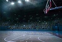 APAN10x7ft屋内バスケットボールコート背景バスケットボール少年BirtAPANayパーティーの写真の背景NBAテーマスポーツパーティーキッドマンスポーツクラブマン学生芸術ポートレート写真撮影の小道具