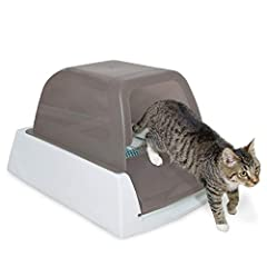 Automatically removes waste: No scooping, cleaning or refilling your cat's litter box for weeks Unbeatable odor control: Crystal litter removes smell by absorbing urine and dehydrating solid waste No more messy floors: Low-tracking crystals are 99% d...