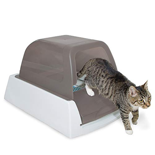 PetSafe ScoopFree Ultra SelfCleaning Cat Litter Box – Automatic with Disposable Tray – Taupe Covered