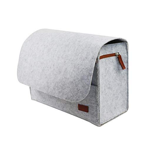 Eillybird vilten tas nachttas, vilt opknoping organizer tas, bed opbergmand beschermende tas voor thuis bedrooster, bank, stapelbedden grijs