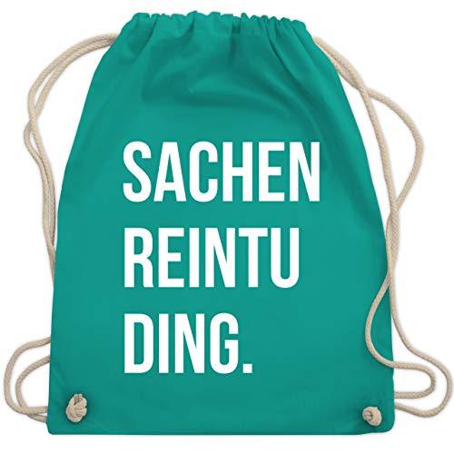 Shirtracer Festival Turnbeutel - Sachenreintuding - Unisize - Türkis - beutel rucksack - WM110 - Turnbeutel und Stoffbeutel aus Baumwolle