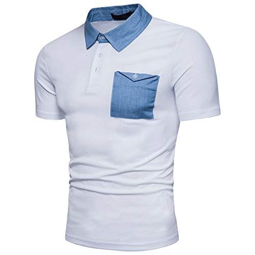 Willlly heren poloshirt zomer mode denim chic casual revers korte mouwen poloshirt met borstzak Daily vrije tijd sport T-shirt tops jongens