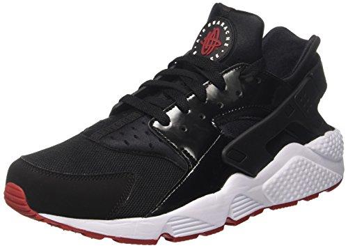 Nike Air Huarache, Scarpe da Ginnastica Uomo, Multicolore (Black / Gym Red / White), 41 EU
