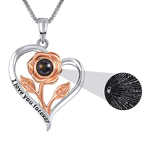 SNSM Heart Necklace That Says I Love You in 100 Languages
