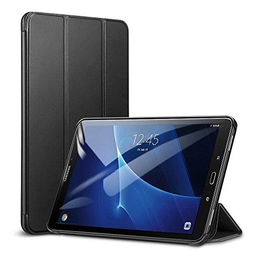 ESR Funda para Samsung Galaxy Tab A 10.1 2016 Silicona [Auto-Desbloquear] Función de Soporte Smart Cover para Samsung Galaxy Tab A 10.1 SM-T585(T580/T580N)-Negro