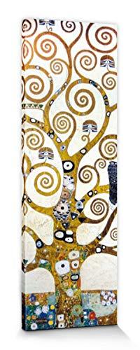 1art1 Gustav Klimt - Der Lebensbaum (Detail) Bilder Leinwand-Bild Auf Keilrahmen | XXL-Wandbild Poster Kunstdruck Als Leinwandbild 150 x 50 cm