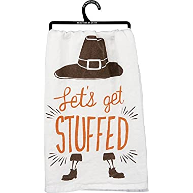 Primitives by Kathy Thanksgiving Dish Towel - Let's Get Stuffed