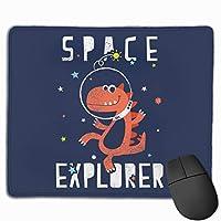 宇宙の恐竜 マウスパッド ゲーミング オフィス最適 防水 耐久性が良い 滑り止めゴム底 マウスの精密度を上がる 25x30cm