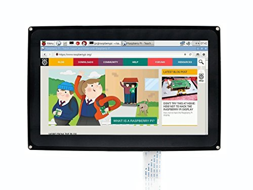 Makibes 10.1 Pollici 1024 x 600 LCD(H) HDMI Touchscreen Capacitivo con Il Caso Bicolor Design per Raspberry Pi/BB Black,Windows 10/8.1/8/7/XP