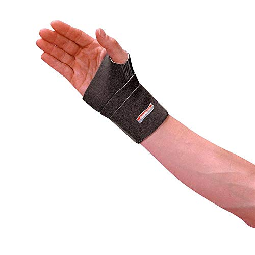 Fabrifoam CarpalGard Wrist Support, Recommended for Carpal Tunnel Syndrome, Wrist Pain, Wrist Strain and Arthritis, Adult Large, Right, Black