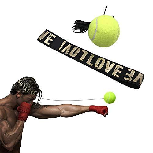 hemwoo Bola De Boxeo Puching Ball De Boxeo La reacción de Pelota de Boxeo Reaccionar Reflejo Bola Pelota de Boxeo Diadema Reflejo de Diadema Boxeo contra 1ballyellow,Free
