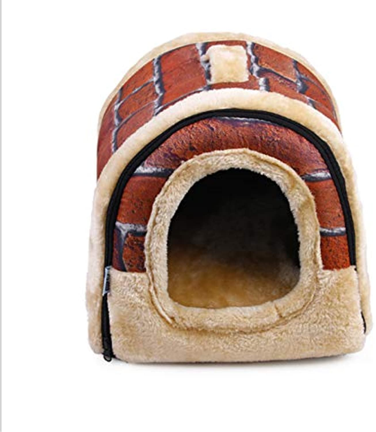 Gaobey Pet Cat Igloo Bed Small Dog Soft Bed Met House Waterproof Covered 1PC (S,M,L,XL) (XL, Red)