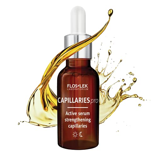 FLOSLEK Aktives Gesicht Couperose Serum | 30 ml | Reduziert Rötungen, Glättet und Strafft | für die Pflege aller Haut-Type mit erweiterten Blutgefäßen | Hergestellt in der EU