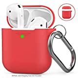 AHASTYLE AirPods Hülle Silikon AirPods Case [Front-LED Sichtbar] Kompatibel mit Apple AirPods 2 & 1...