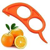 4x Orange Opener Peeler Hobel Cutter Kunststoff Lemon Citrus Fruit