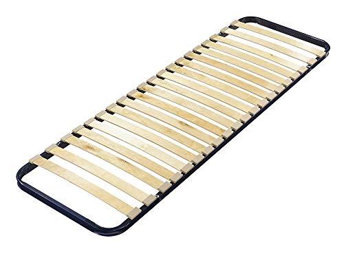 Quaidesaffaires - Sommier 90 X 190 Avec Cadre Métal 20 Lattes Multiplis