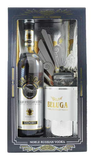 Beluga Noble Russian Vodka Gift Set Mariinsk Destillery, Russischer Edelwodka in exklusiver Ausstattung