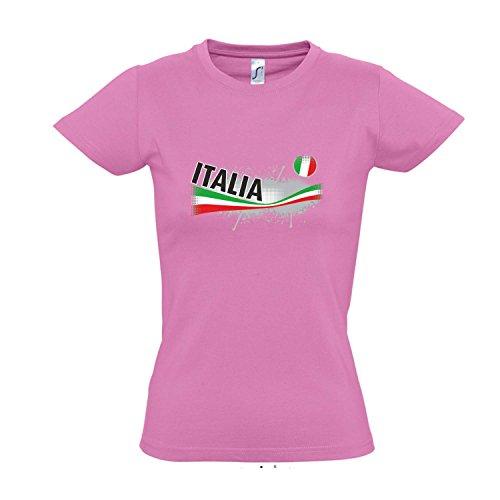 Fanshirt-Damen Italia, Italien Ländershirt EM/WM Trikot S-XXL, Orchid pink, S