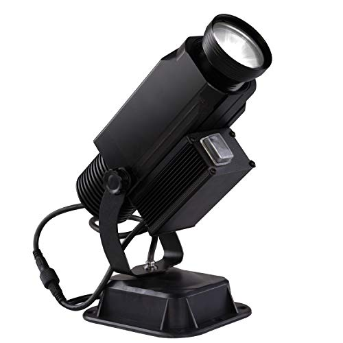 LED Logo Gobo Projector Image Rotation IP65 Waterproof with Manual Zoom DJ Effect Light Custom Gobos for Company Restaurant Store Wedding Advertising Outdoor Use