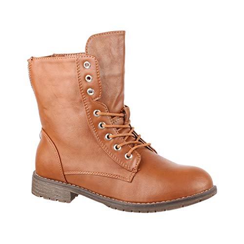 Elara Damen Worker Boots Chunkyrayan KA16-22SL-camel-39