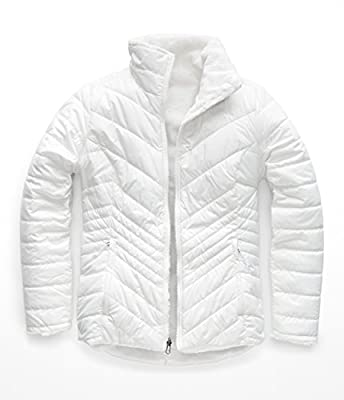 The North Face Women's Mossbud Insulated Reversible Jacket, TNF White, Medium