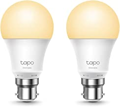 TP-Link Tapo Smart Wi-Fi Light Bulb, Dimmable 2-Pack - B22, 8.7 W, Compatible with Alexa, Google Home, Dimmable Soft Warm ...