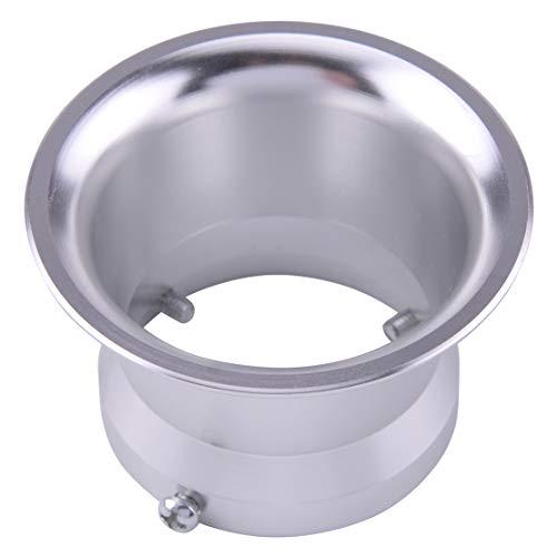 Connecteur de coupe de vent de filtre à air de klaxon de moto de 55mm adapté pour l'interface de carburateur de 32 / 34mm avec 3 vis argent