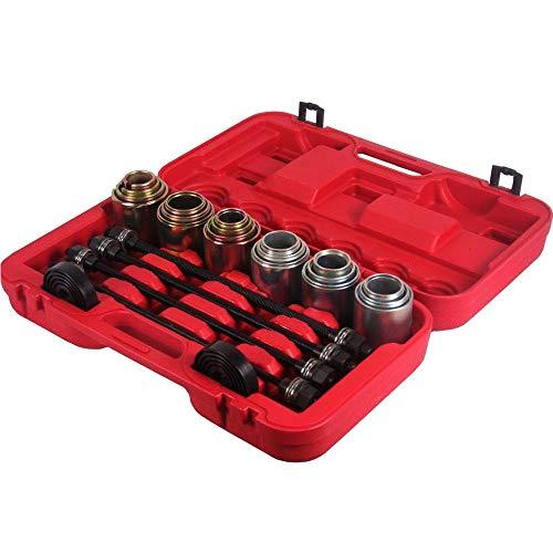 PRIT Lot de 26 outils de roulement de roue universels Press & Pull Housse Kit Bush, extraction et insertion de roulements