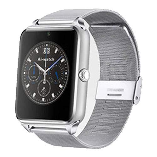 Wsaman Rastreador de Ejercicios Fitness Tracker Smartwatch Pantalla Color Táctil Completa Pulsera Actividad Reloj Inteligente, con Monitor de Ritmo Cardíaco para Android/Hombre/Mujer,Plata